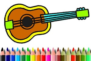 Music Instrument Coloring Book